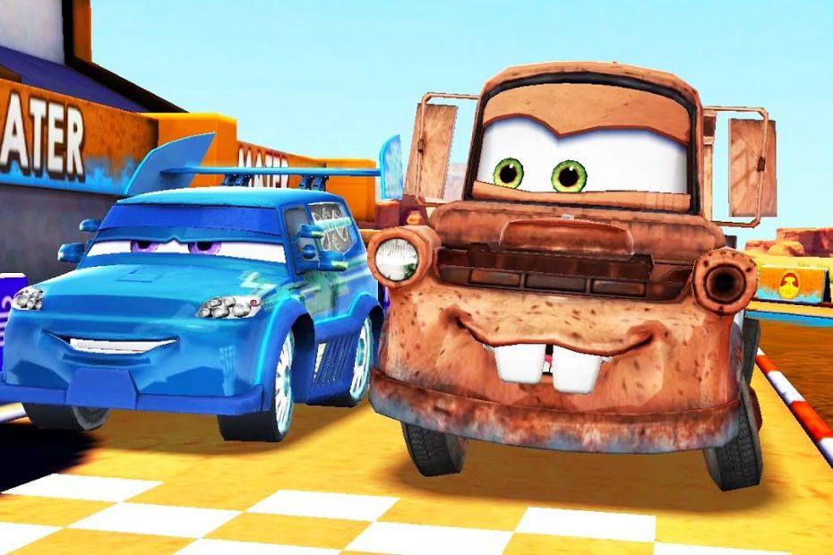 Arabalar Şimşek McQueen Hızı Flo'nun Pistine Gidiyoruz (Araba Oyunu)