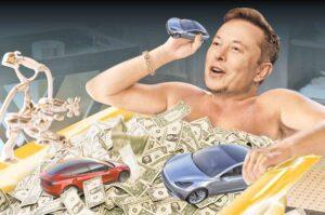 Elon Musk servetini dört ayda üç katına çıkardı.