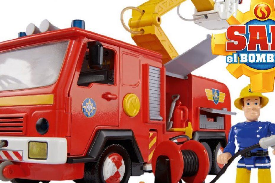 Fire Truck Fireman Sam toys 🌟Kids Cartoons 🔥 Simba Deluxe Jupiter Sam's Fire Engine!
