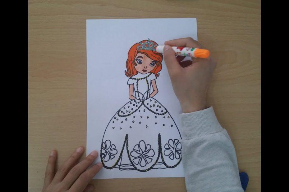 Prenses Sofia kolay çizimi izle. Princess sofia disney,