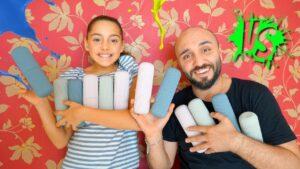 Amcamla Tüplerden Ne Çıkarsa Cezalı Slime Challenge Melike