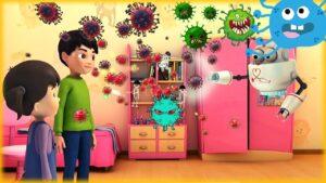 Gürbüz ve Elif El Temizliği   Corona Virüs Önlemler   Eğitici Çocuk Videoları Çizgi Film izle