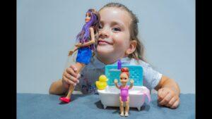 Barbie, Evi - baby baden - baby wash bathing