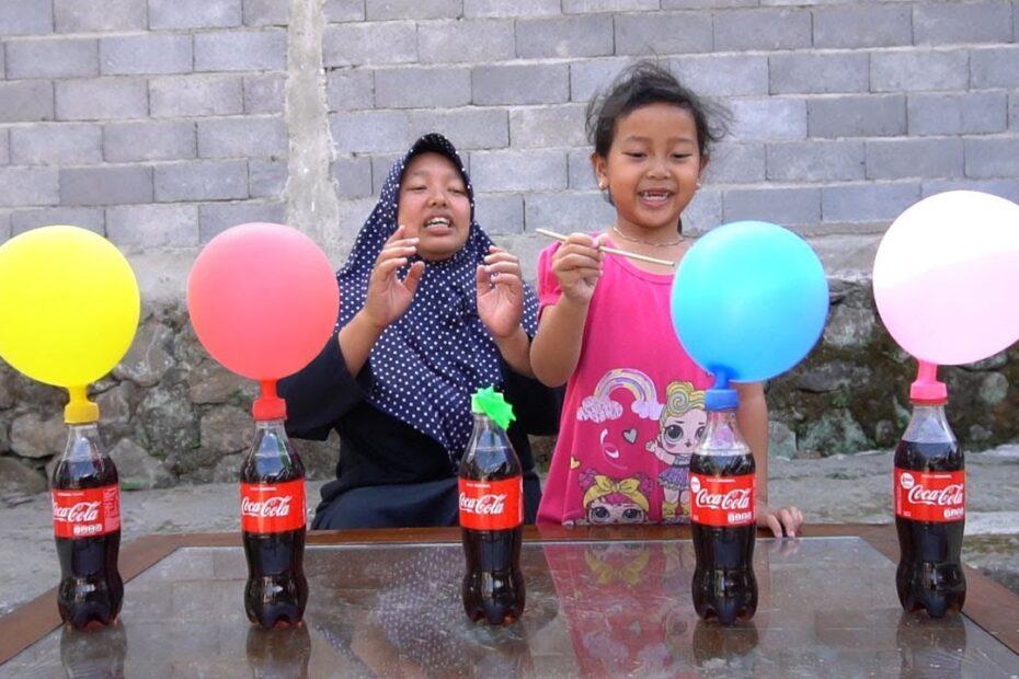 KEYSHA Belajar Warna Dengan FINGER FAMILY BALLOON SONG, Coca Cola dan Mentos DADDY FINGER