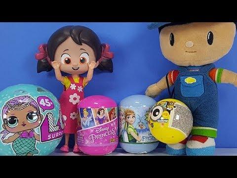 Niloya ve Pepe ile Lol Disnep Princess Karlar Ülkesi ve Minyonlar Sürpriz Yumurtaları Açıyoruz