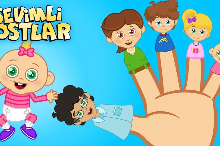 Parmak Ailesi - Sevimli Dostlar çizgi film çocuk şarkıları 2017 - Adisebaba TV Bebek Şarkıları