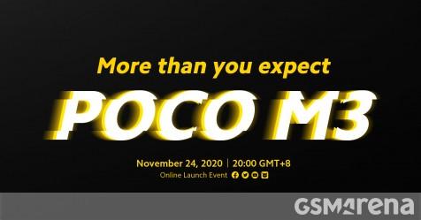 Poco M3 24 Kasım'da piyasaya sürülecek