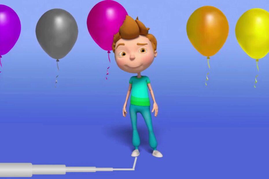 Renkli Balonlarla Maşa, Kocaayı, hapşu, ibi, aslan çizgifilm karakterleri ile eğlence