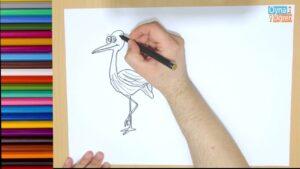 Çiz Boya | Harfleri Öğren | Çocuklar İçin Eğitici Video | Harf Boyama | L Harfi | Leylek Çizimi