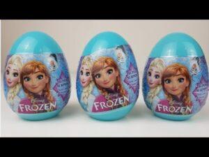 Disney Frozen Surprise Eggs, Karlar Ülkesi Sürpriz Yumurtaları 2018