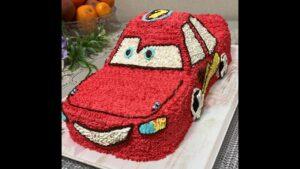 Maşynly tort, the lightning McQueen cake, машина торт, arabalı pasta, şimşek mcqueen pasta