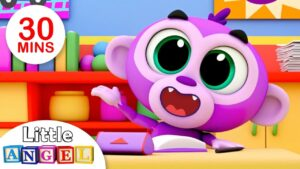 No, No Baby Monkey Learns Good Manners at School, Finger Family Peekaboo| Kids Songs by Little Angel