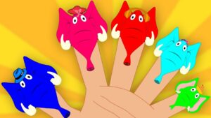 Finger Family Elephants | Nursery Rhymes For Childrens And Kids | Baby Songs For Toddlers