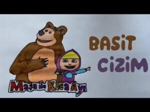 Maşa ile Koca Ayı Çizimi ve Boyaması 2 | Çocuk Videoları