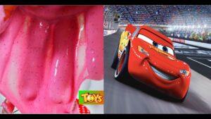 DIY - ÇAMAŞIR DETERJANI ile BORAKSSIZ SLIME YAPTIK! Şimşek McQueen saklama kutusu SLIME YAPTIK!