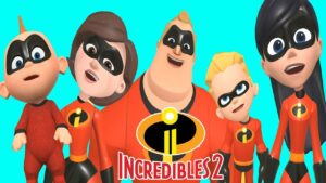 LEARN COLORS FOR CHILDREN THE INCREDIBLES 2 FINGER FAMILY SONG NURSERY RHYMES VIDEO FOR KIDS