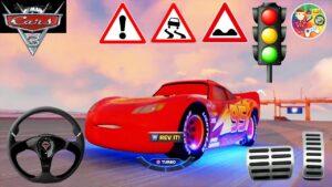 Lightning McQueen Cars 3   Disney Cars Fireball Beach Sprint Race   Direksiyonlu Şimşek McQueen Game
