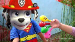 PAW PATROL vs DADDY FINGER Nursery Rhymes Keysha Finger Family Baby