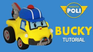 Transformed into clay♥ Bucky became so soft! | Friends of Robocar POLI | Gony's Claytown