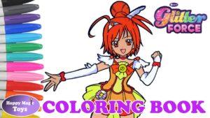 Coloring Book Glitter Force Smile Precure Glitter Sunny Happy Magic Toys