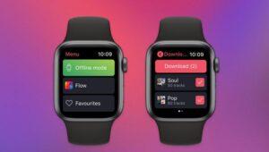Deezer'in Apple Watch uygulamasında şarkı indirme özelliği var