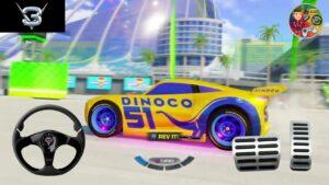 Dinoco Cars 3 Disney Games | Florida İnternational Concourse | Color Games Lightning McQueen