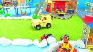 İtfaiyeci Sam - İtfaiye Oyuncakları Yolda Yolculuk _ Çocuklar için Oyun ve Eğlenceli Oyuncak Araçlar
