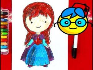 prenses anna çizimi / elsa kız kardeşi / karlar ülkesi