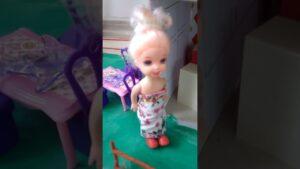 yeni küçük Barbie evi turu!!!!
