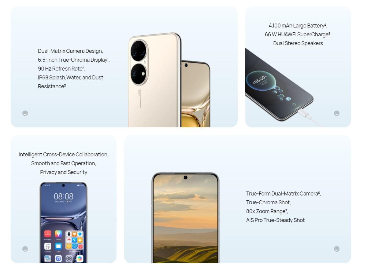 Huawei P50'nin temel özellikleri