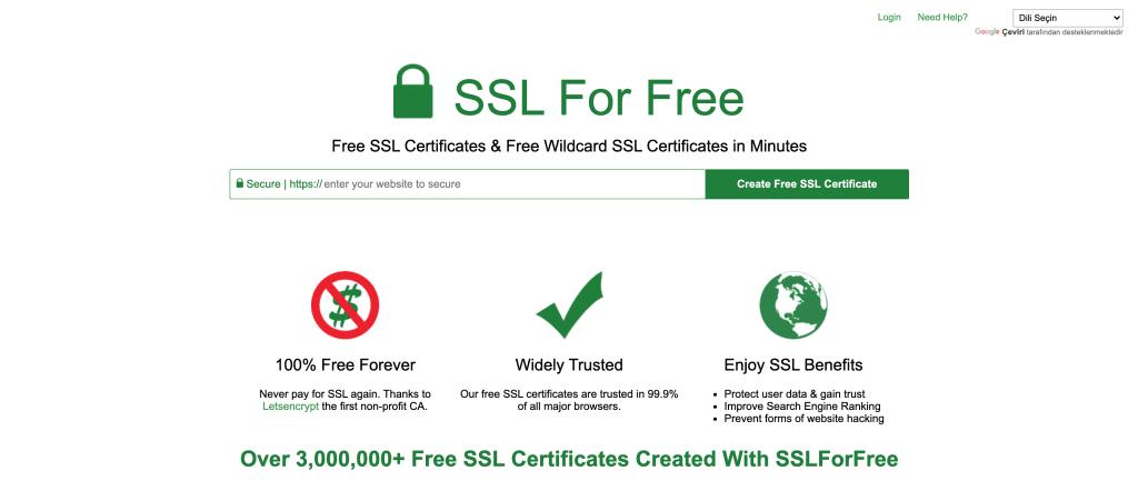 Ücretsiz SSL Sertifikası Nasıl Alınır