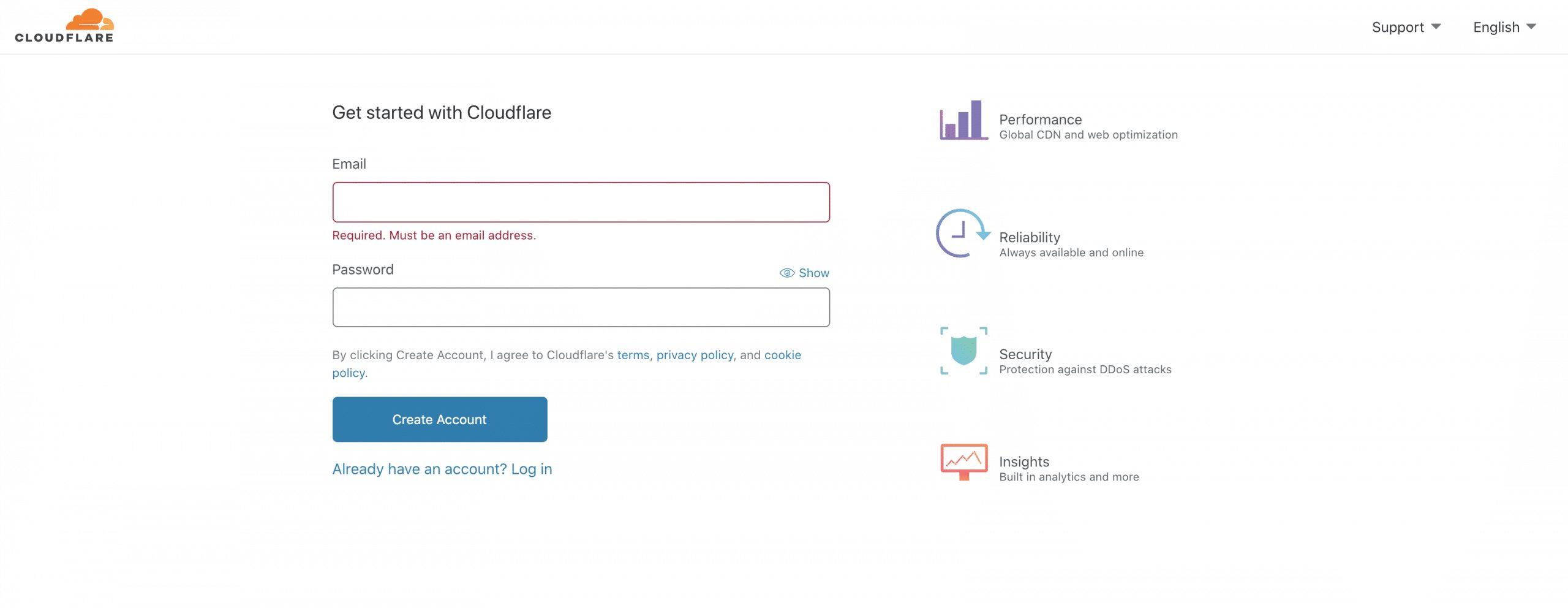 Cloudflare Hesap Oluşturma