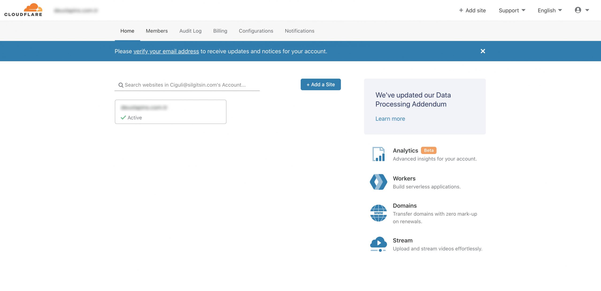 Cloudflare Ayarları - Giriş Ekranı